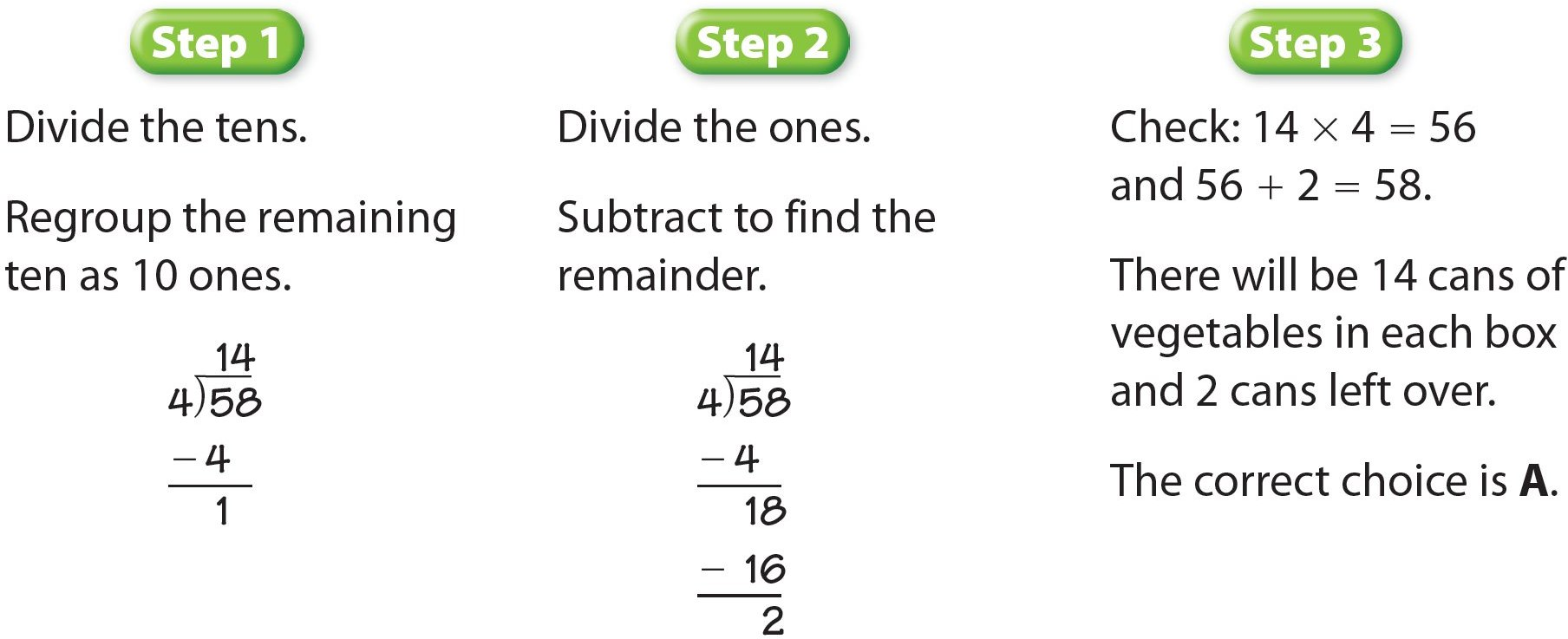 Worksheet How To Do Long Division Step By Step For Kids mathml in daisy structure guidelines long division steps for 58 divided by 4
